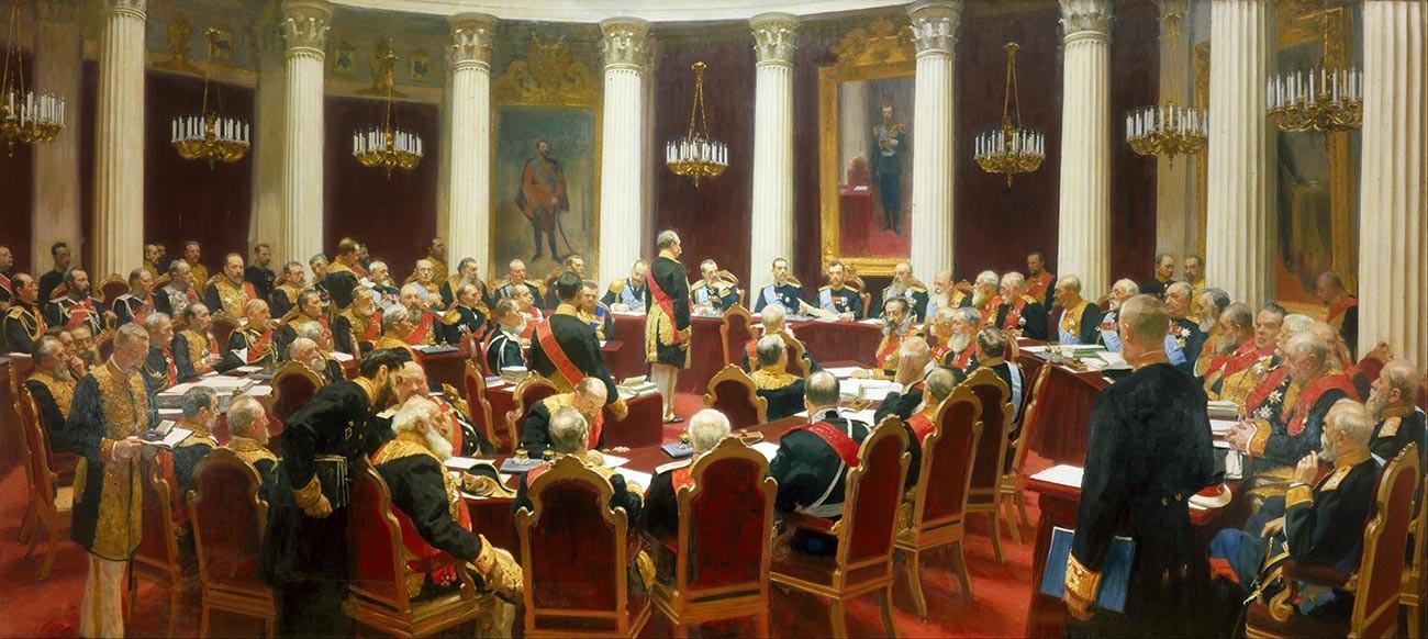 Feierliche Sitzung des Staatsrates am 7. Mai 1901.