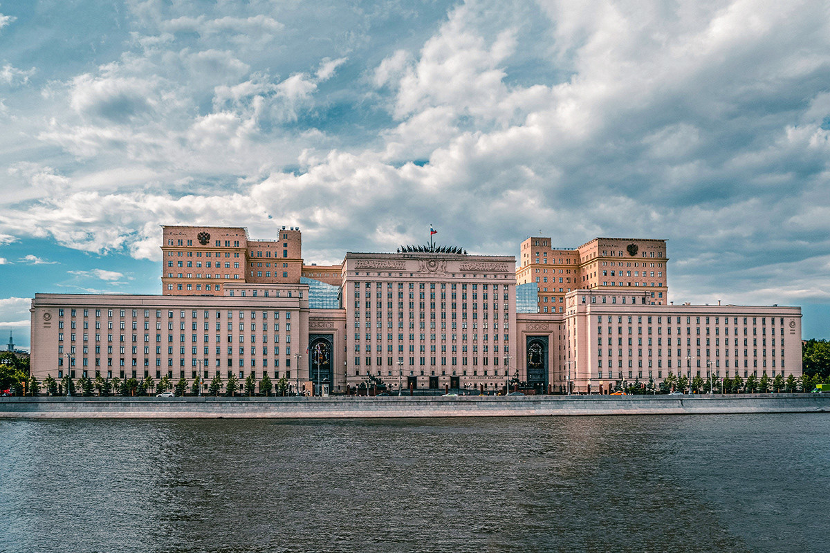 The building of the Ministry of Defense in Moscow.