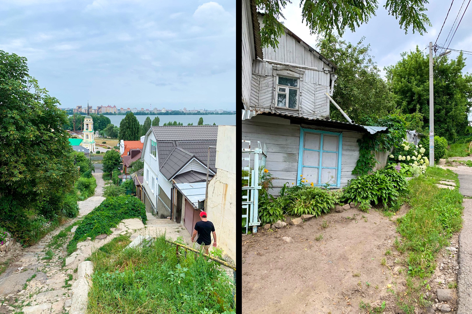 Straßen auf dem Weg zum Fluss Woronesch.