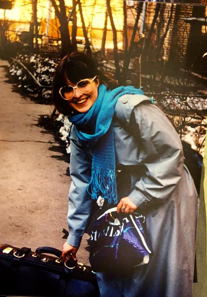 A professora da USP Elena Vássina, em Moscou, no final dos anos 1970.