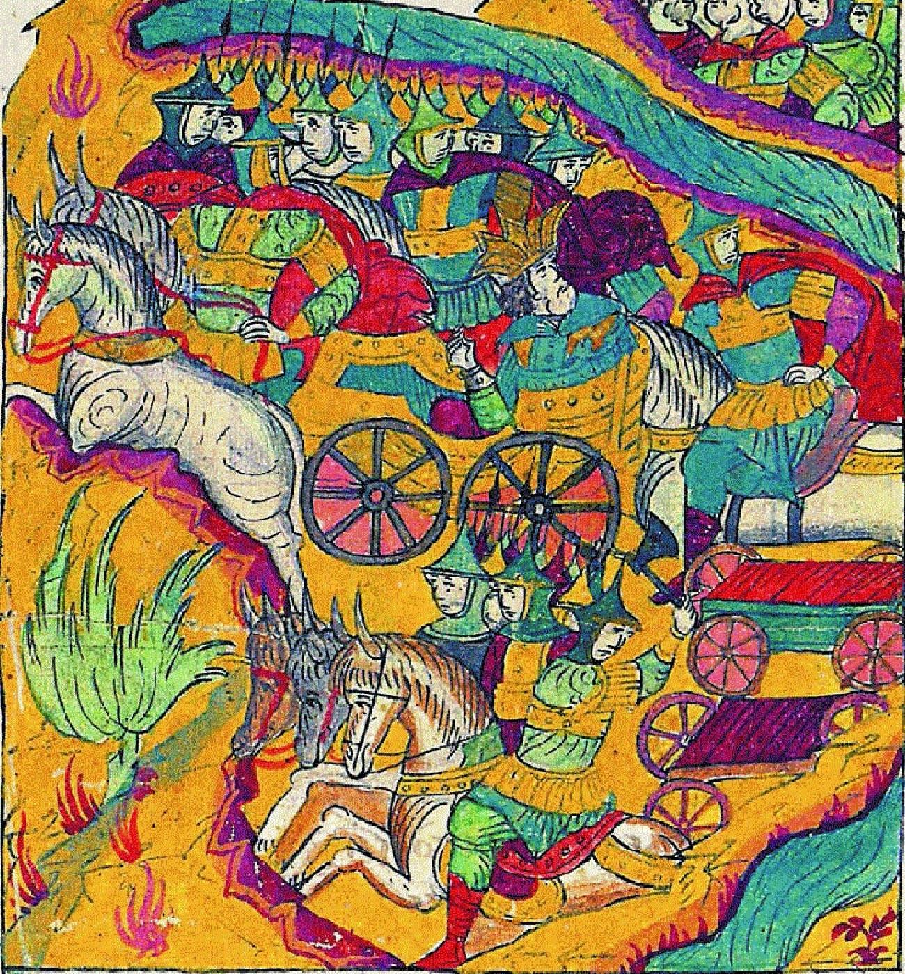 «Бегство Сахиб Гирея с ордой от Оки. 1541 год».