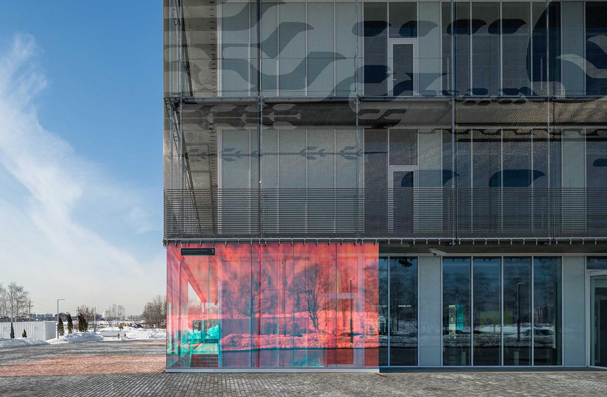 スコルコヴォのイノベーションセンター内の超立方体