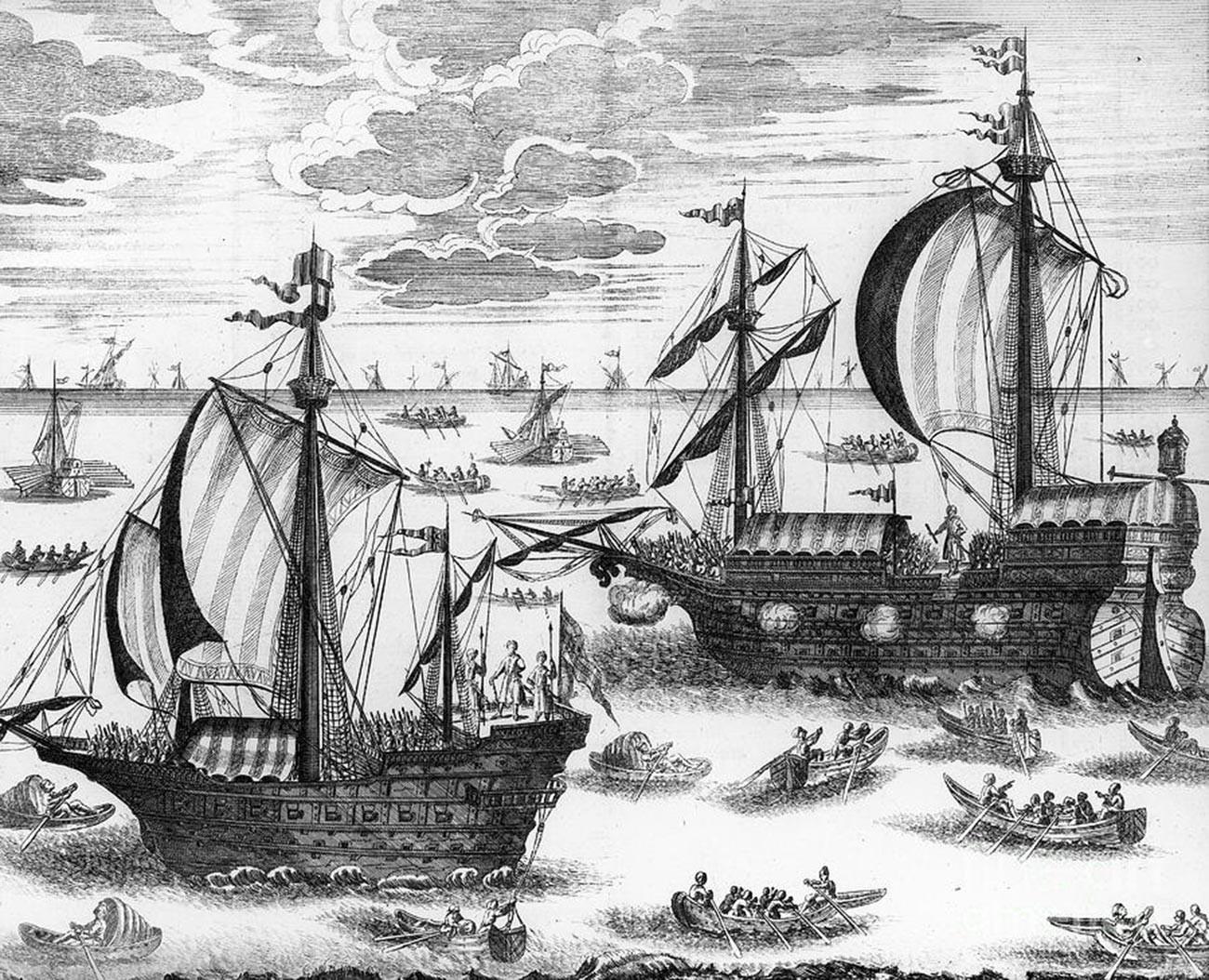 Azovska flota, iz potovalnega dnevnika Johanna Georga Korba