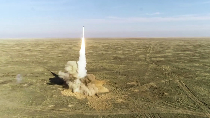 Test launch of a cruise missile 'Thunder-2019'