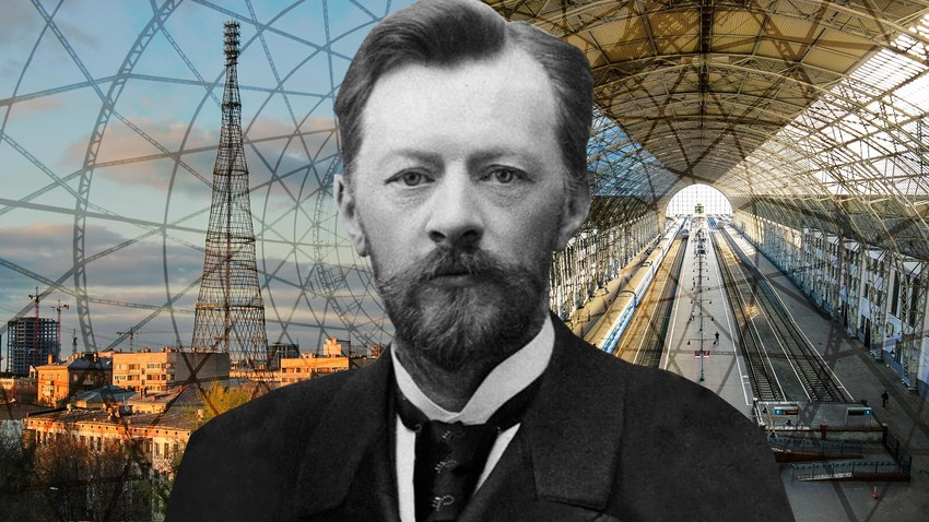Vladimir Shukhov watches you learning about his technical heritage.
