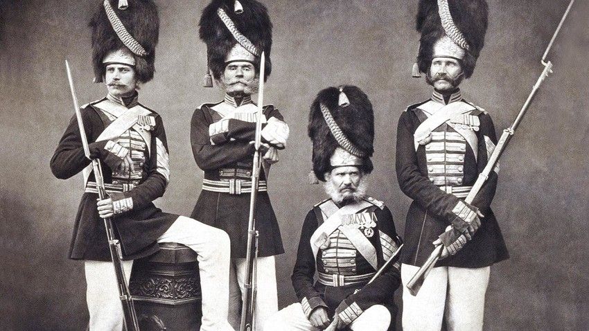 The members of the Palace Grenadiers Company