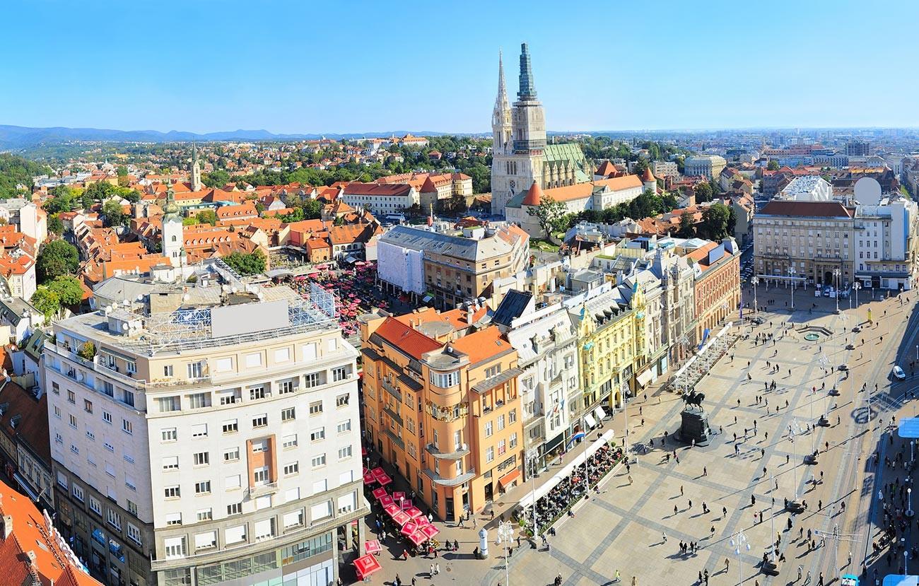 ユーゴスラビアの一部だったクロアチアの首都ザグレブ