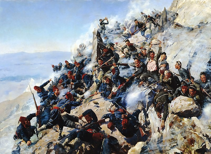 The Battle of Shipka Pass in August 1877.