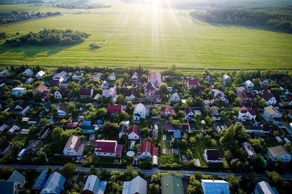 Perumahan di Moskovskaya Oblast.