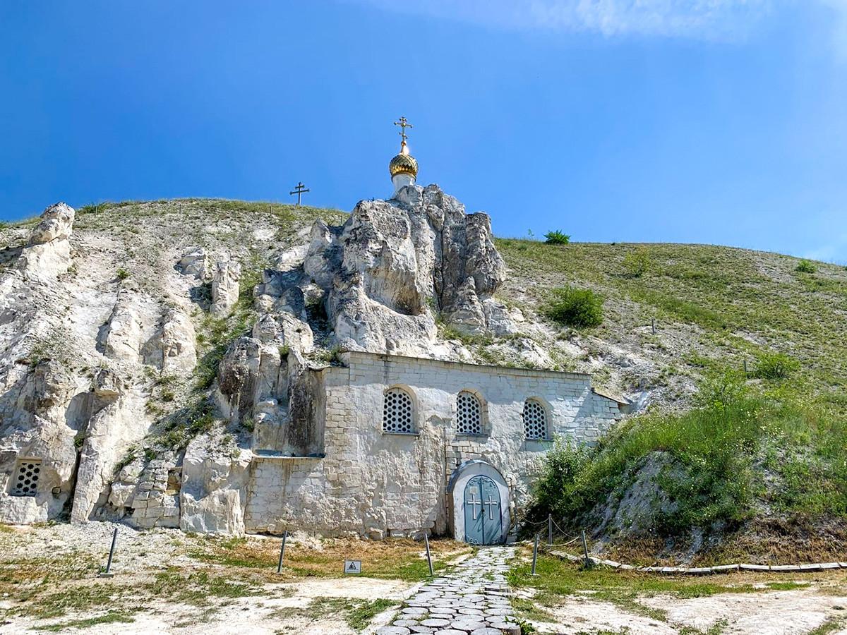 La Chiesa dell'Icona Siciliana della Madre di Dio, scolpita direttamente nella roccia