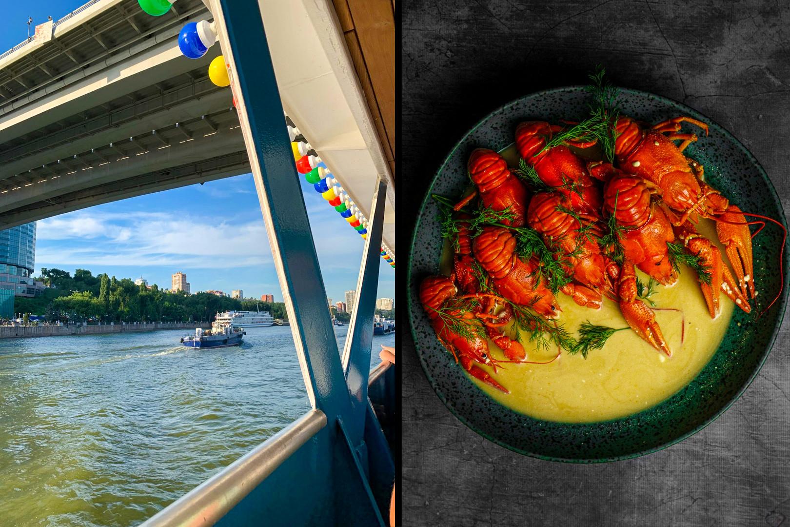 Il fiume Don e alcune specialità culinarie locali: i gamberi di fiume