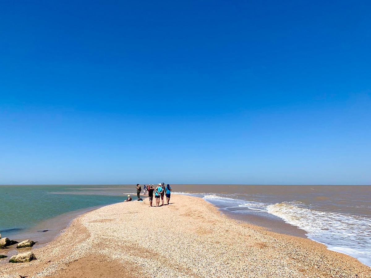 La striscia di terra Dolgaja nel Mar d'Azov