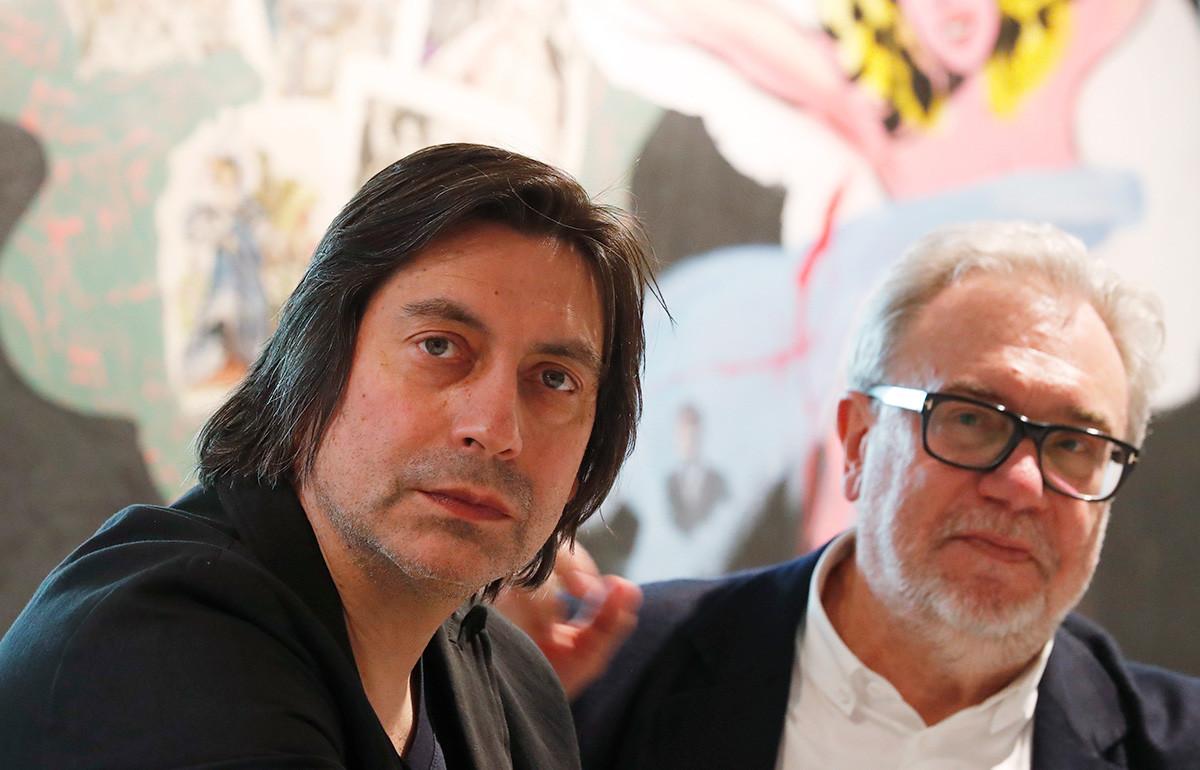 Dmitrij Likin (levo) in Oleg Šapiro.