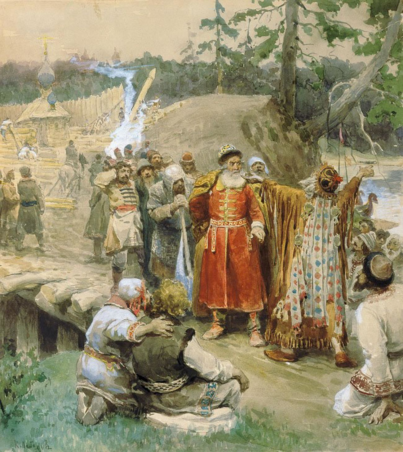 『新しい地を開拓するロシア人』