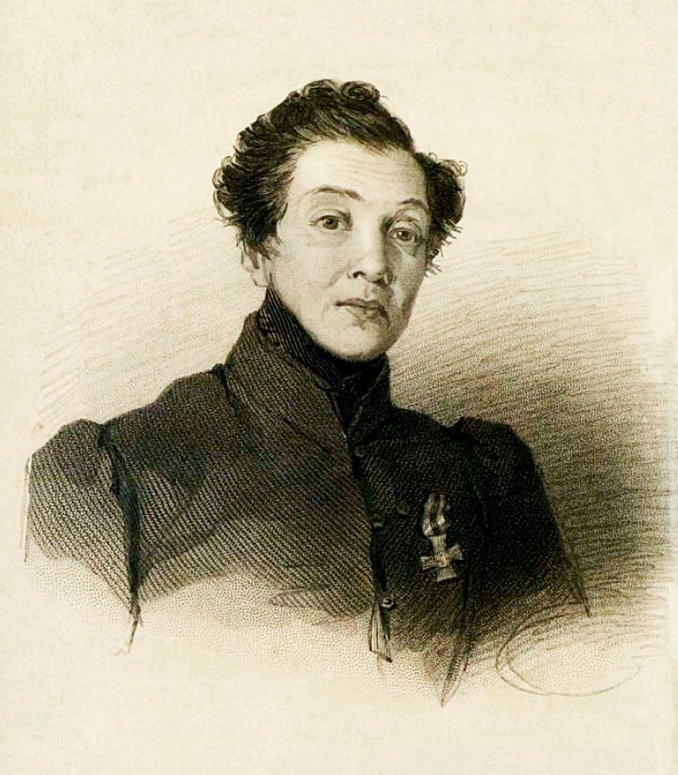 Nadezhda Durova dengan Saling St. George.