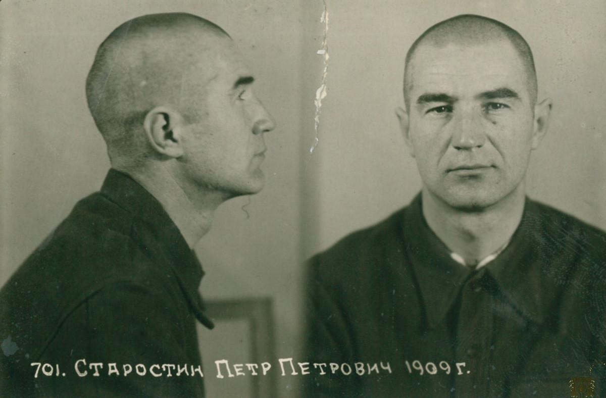 Pjotr Starostin im Gefängnis.