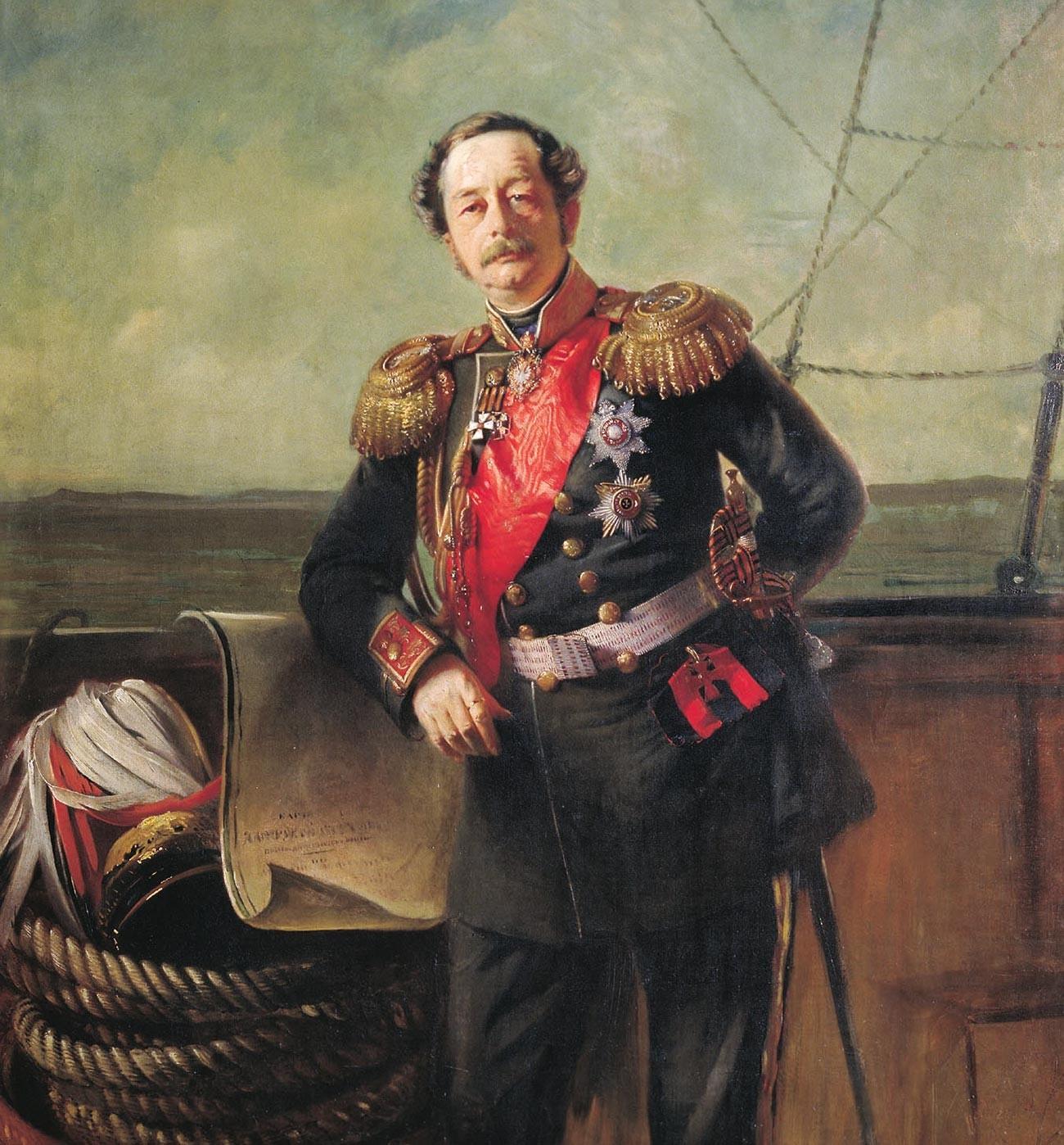 Portrait du comte Nikolaï Mouraviov (qui sera plus tard nommé Mouraviov-Amourski en raison de ses accomplissements dans la région de l'Amour)