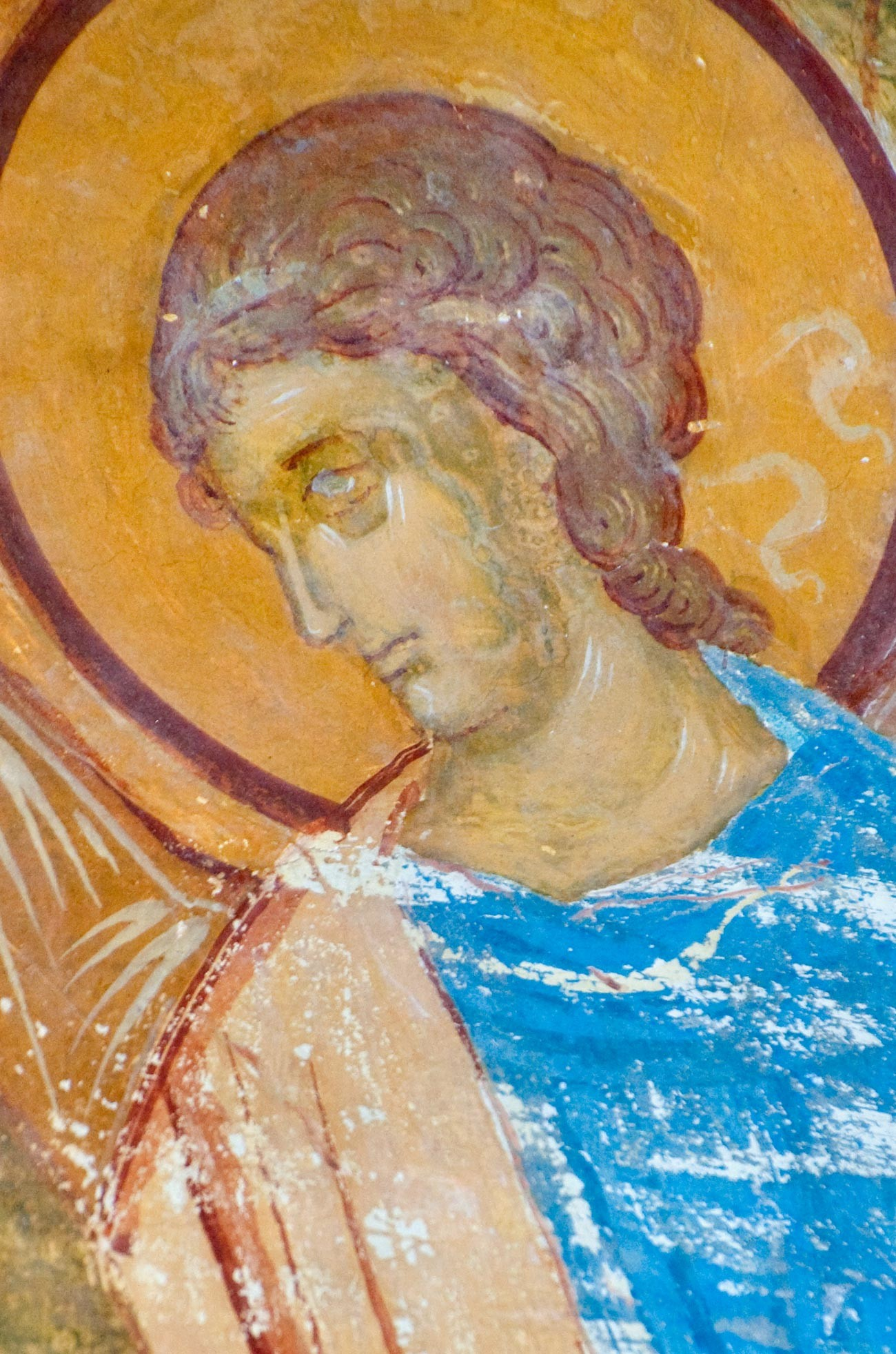 Cathedral of Nativity. North wall. Angel from fresco
