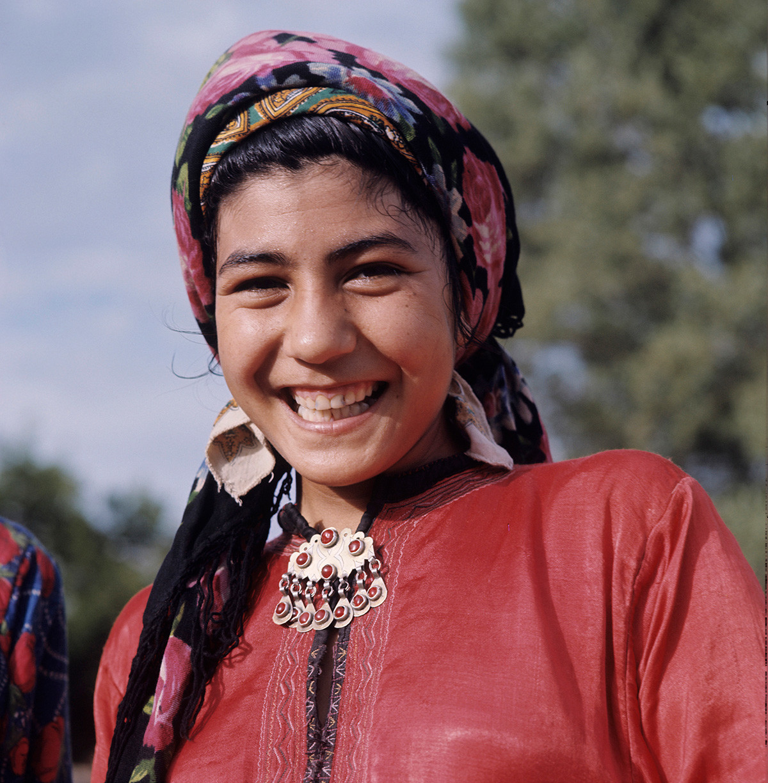 Siswi sekolah di Ashgabat.