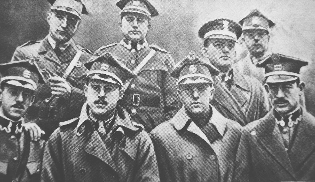 Первые американские пилоты в Польше.