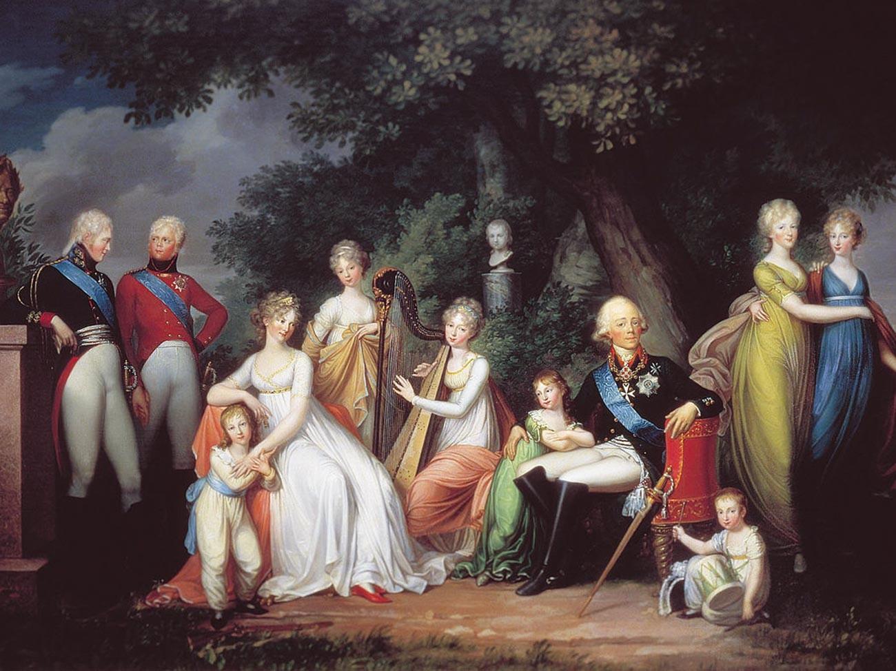 La famiglia di Paolo I di Russia