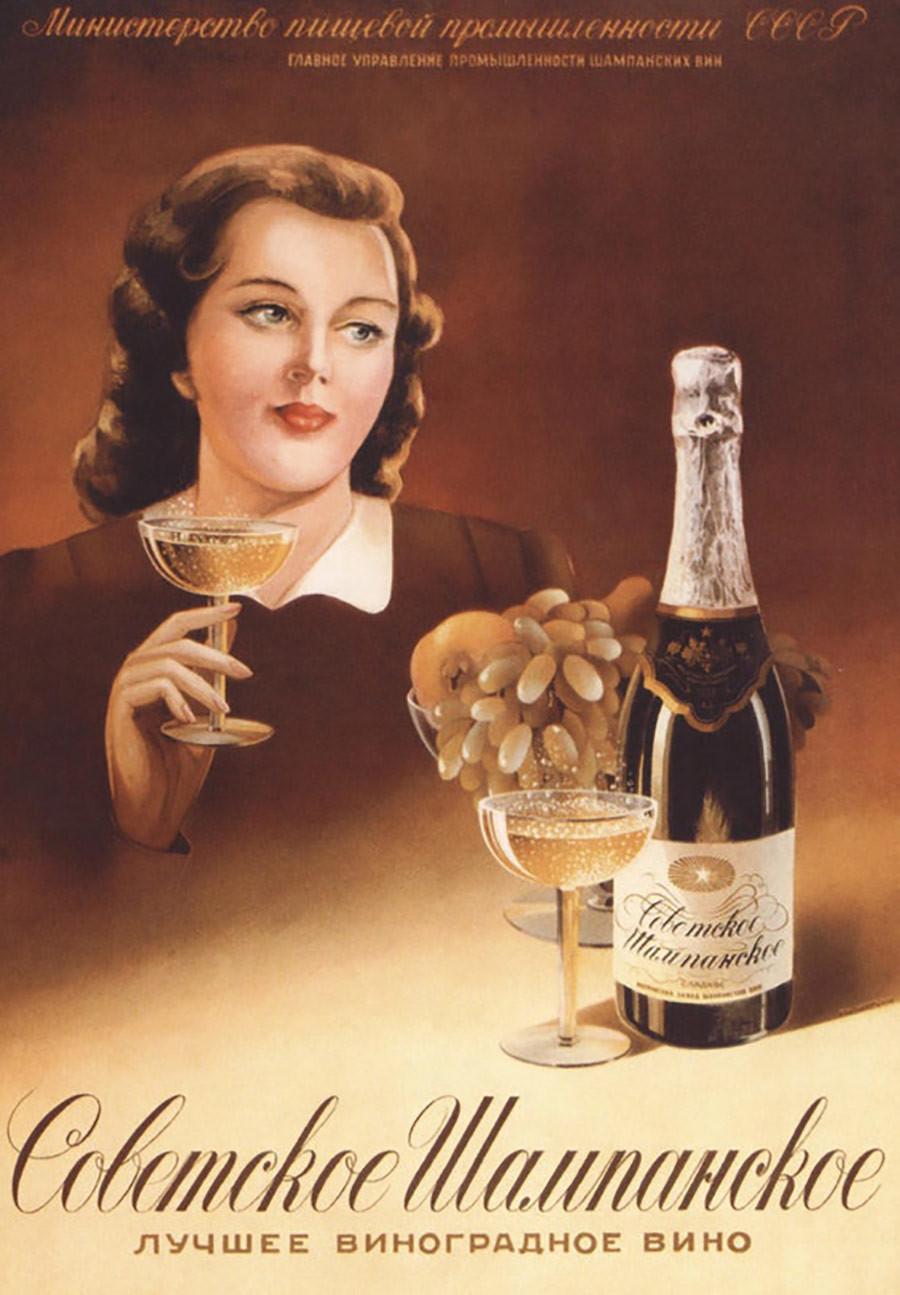 Le champagne soviétique est le meilleur vin de raisin