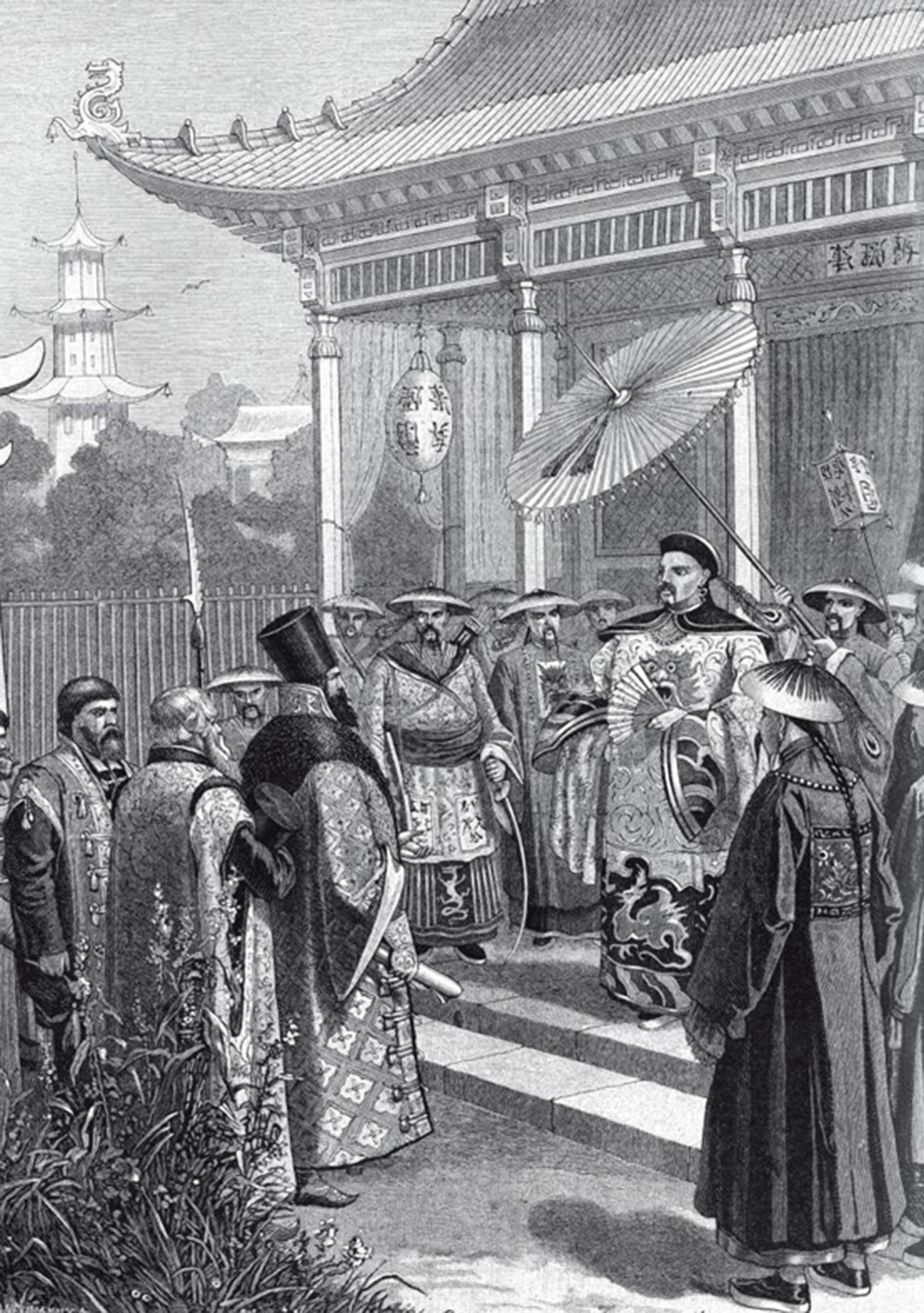 Utusan Rusia di Tiongkok pada abad ke-17.