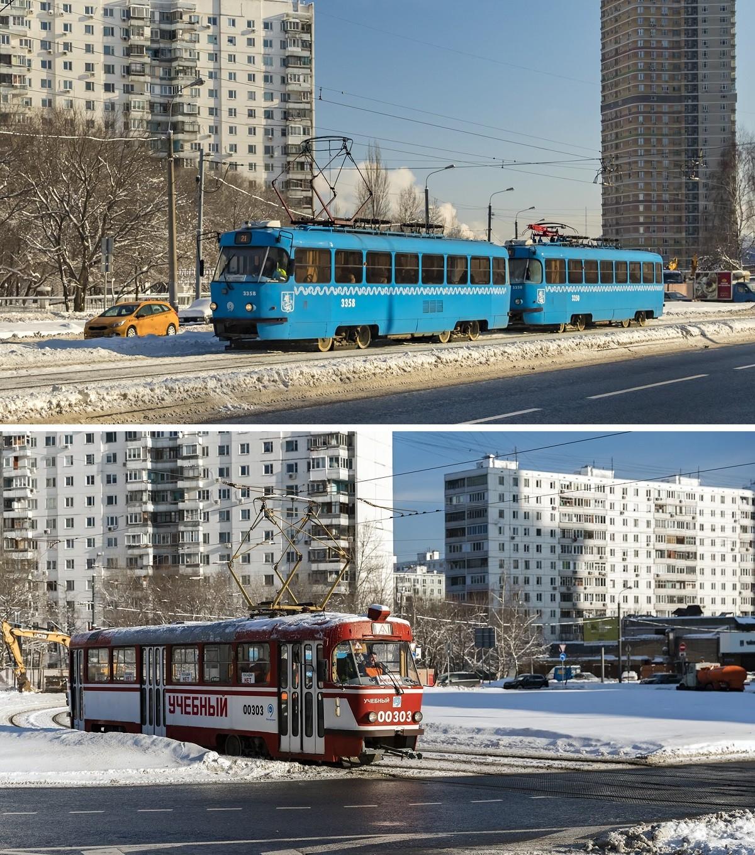 Exemples de tramways auparavant en circulation à Moscou