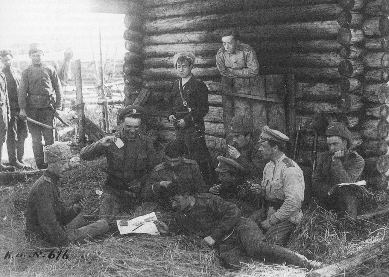 Подразделение белой армии Колчака.