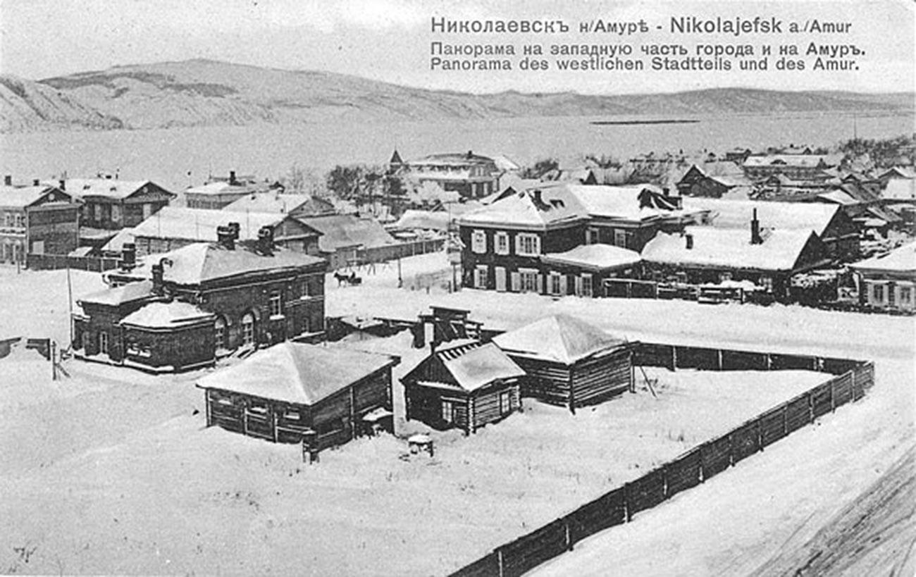 Die Stadt Nikolajewsk am Amur im russischen Fernen Osten um die Jahrhundertwende.
