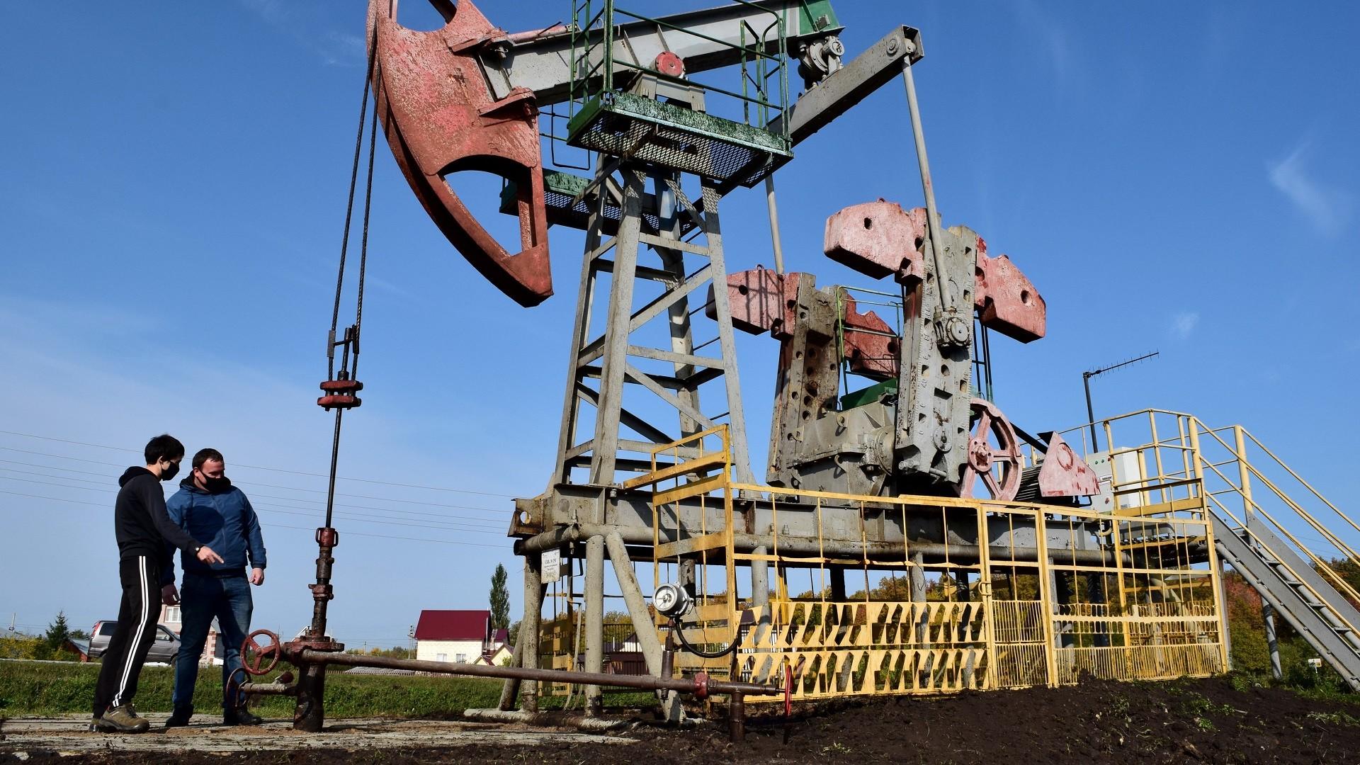 Site de forage pétrolier en République du Bachkortostan, Russie