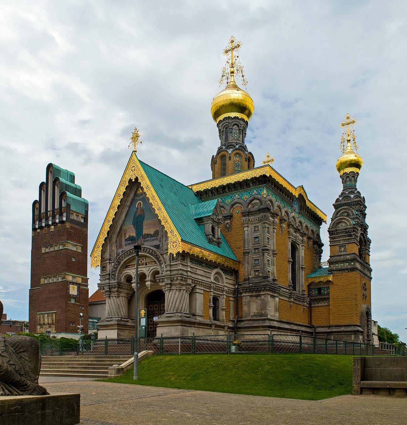 Kapel Rusia di Darmstadt.