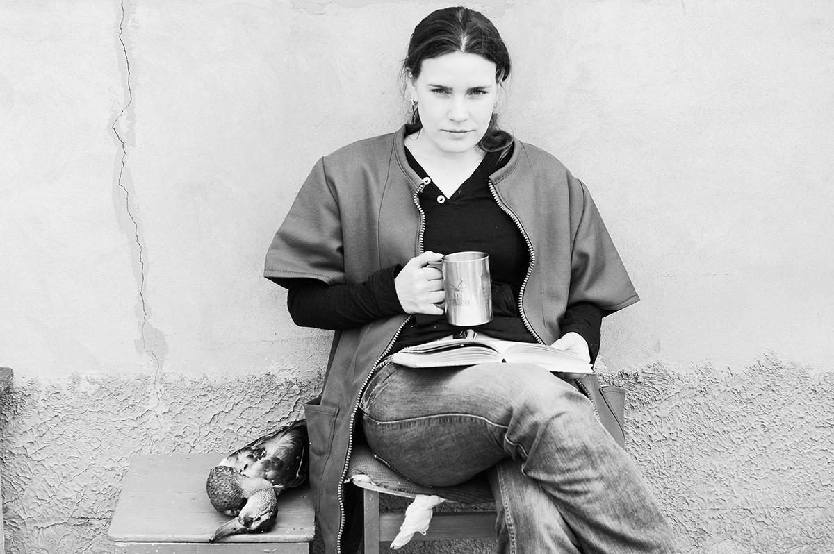 Portrait avec un canard