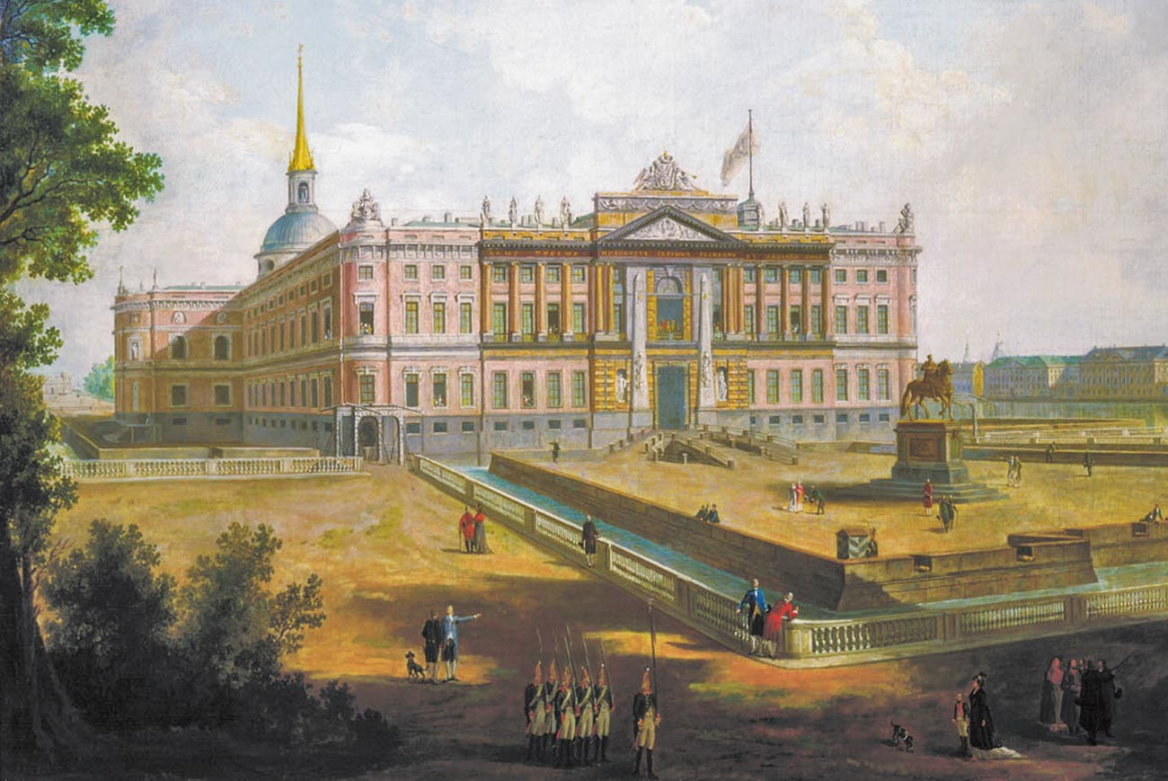 The Mikhailovsky Castle, Paul's fortress in St. Petersburg where he was murdered