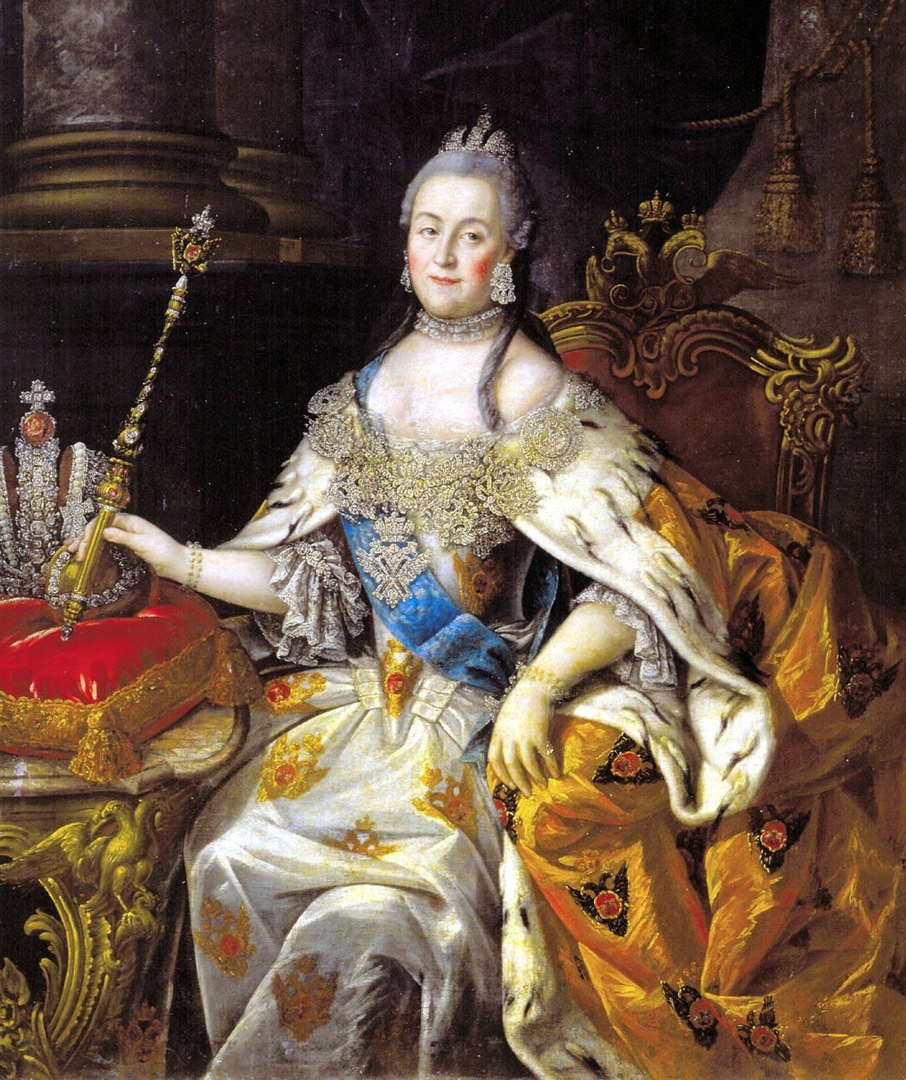 Catherine II par le peintre Alexeï Antropov