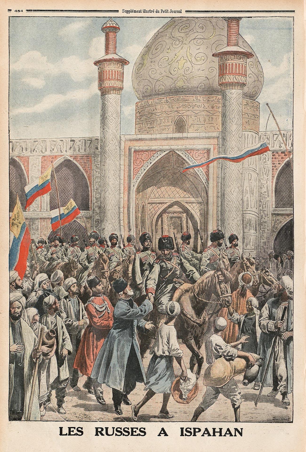 Pasukan Rusia di Kota Isfahan.