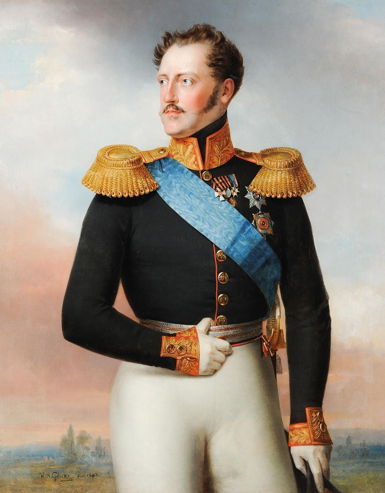 Николай I в мундир, 1843 г., Руски музей