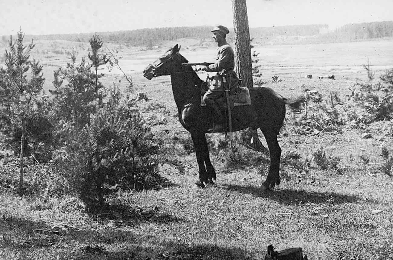 A Czechoslovak scout in Siberia.