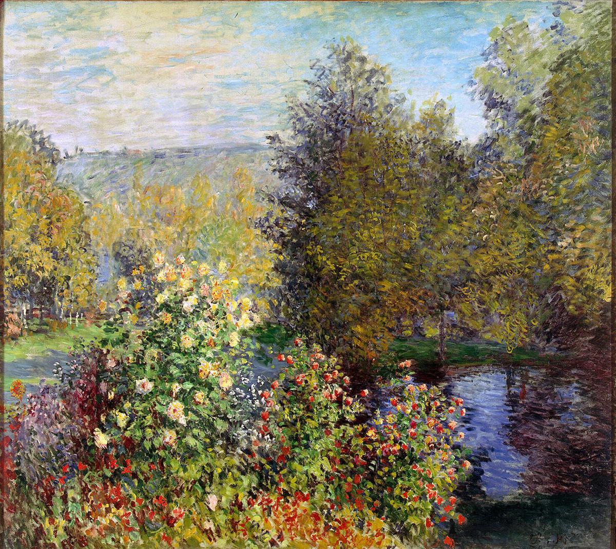 """""""Um canto do jardim em Montgeron"""" de Claude Monet."""