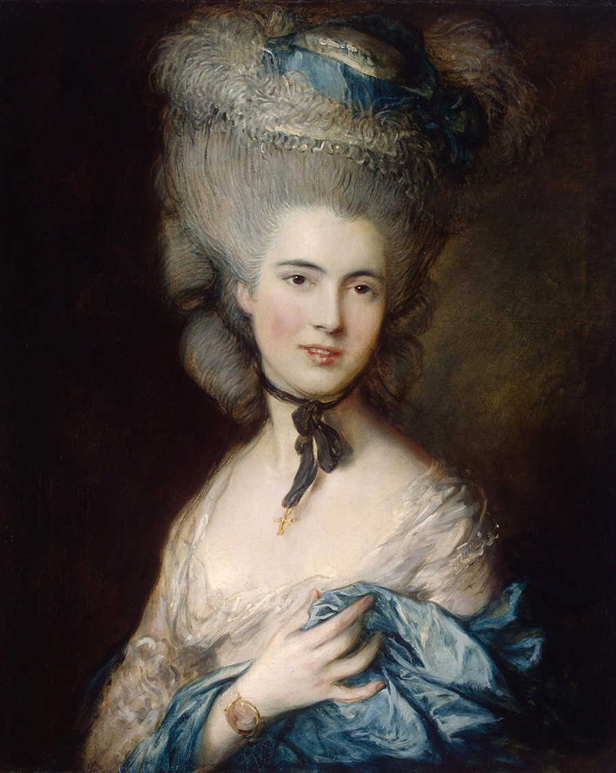 Thomas Gainsborough. Portrait of a Lady in Blue