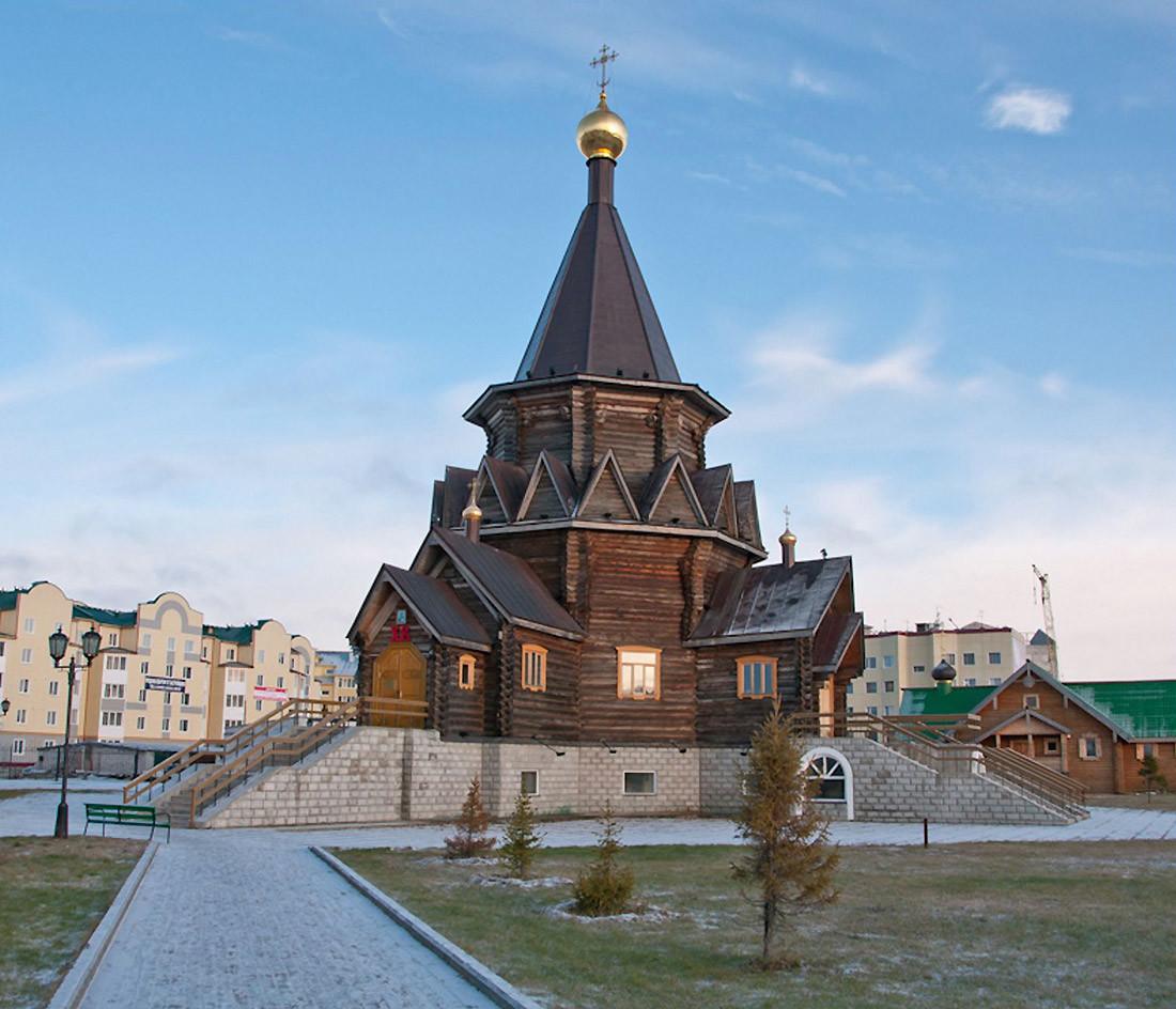 La cattedrale dell'Epifania a Naryan-Mar