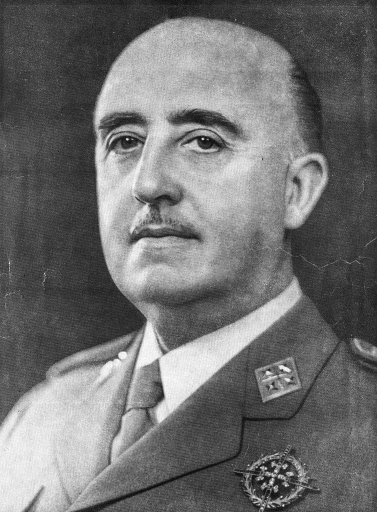 O ditador fascista Franco.