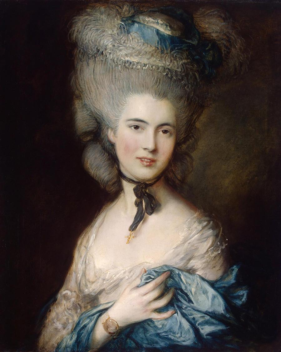 Frau in Blau von Thomas Gainsborough