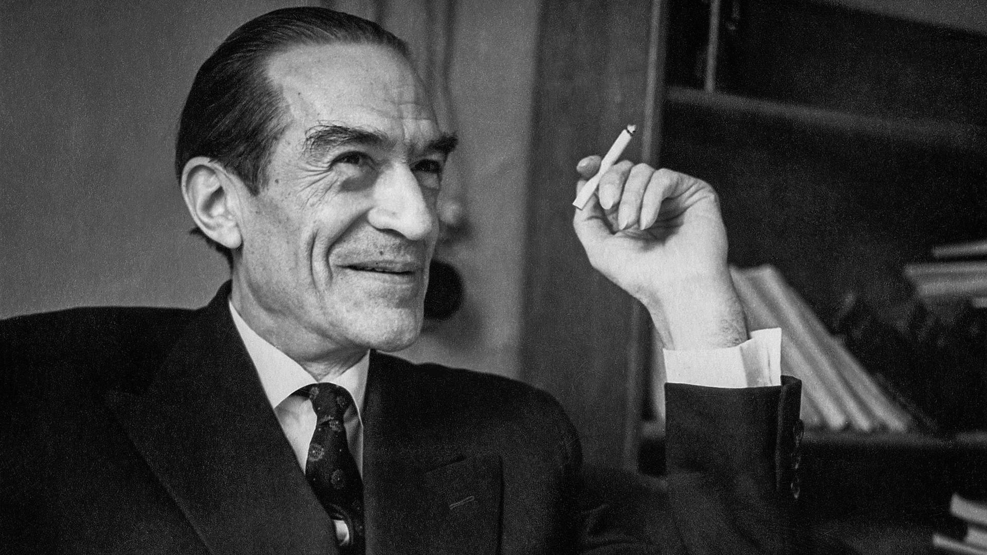 Aleksêi Leôntiev (1903-1979). Foto de 29 de março de 1963, tirada em Moscou.