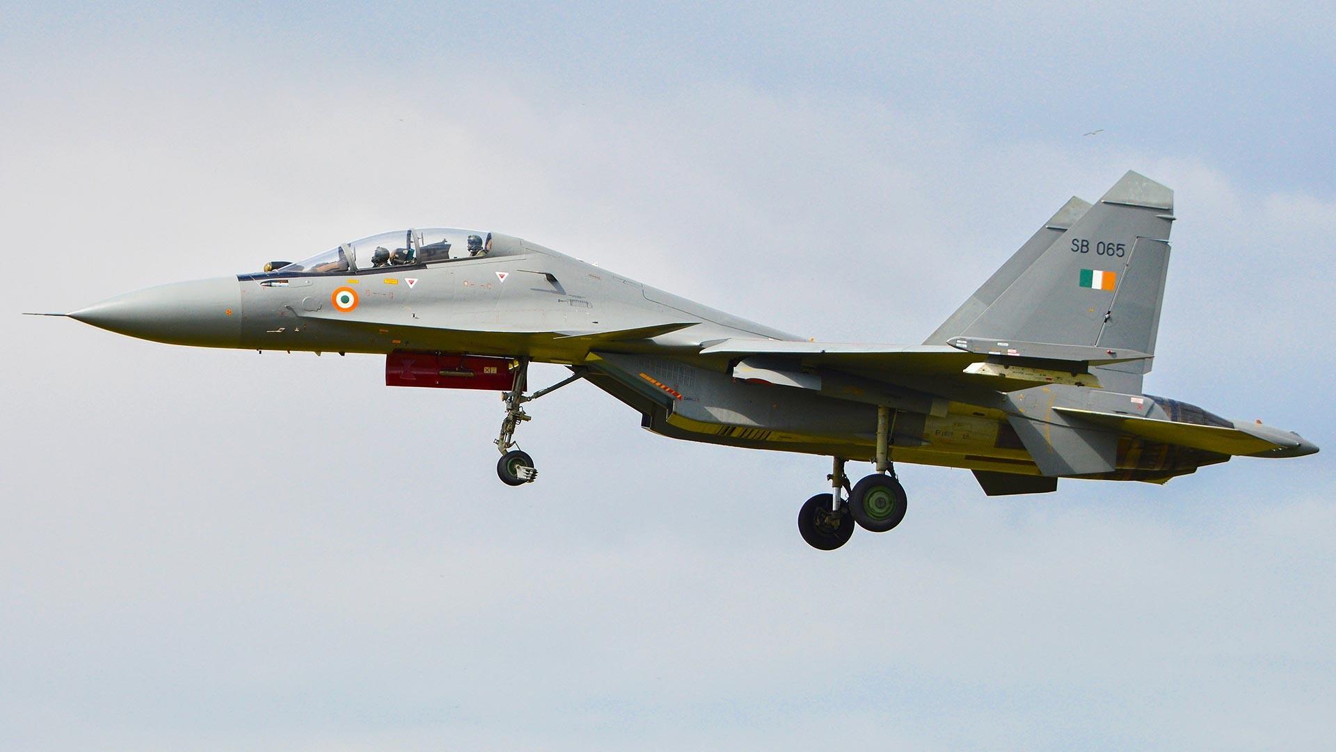 Su-30MKI milik Angkatan Udara India.