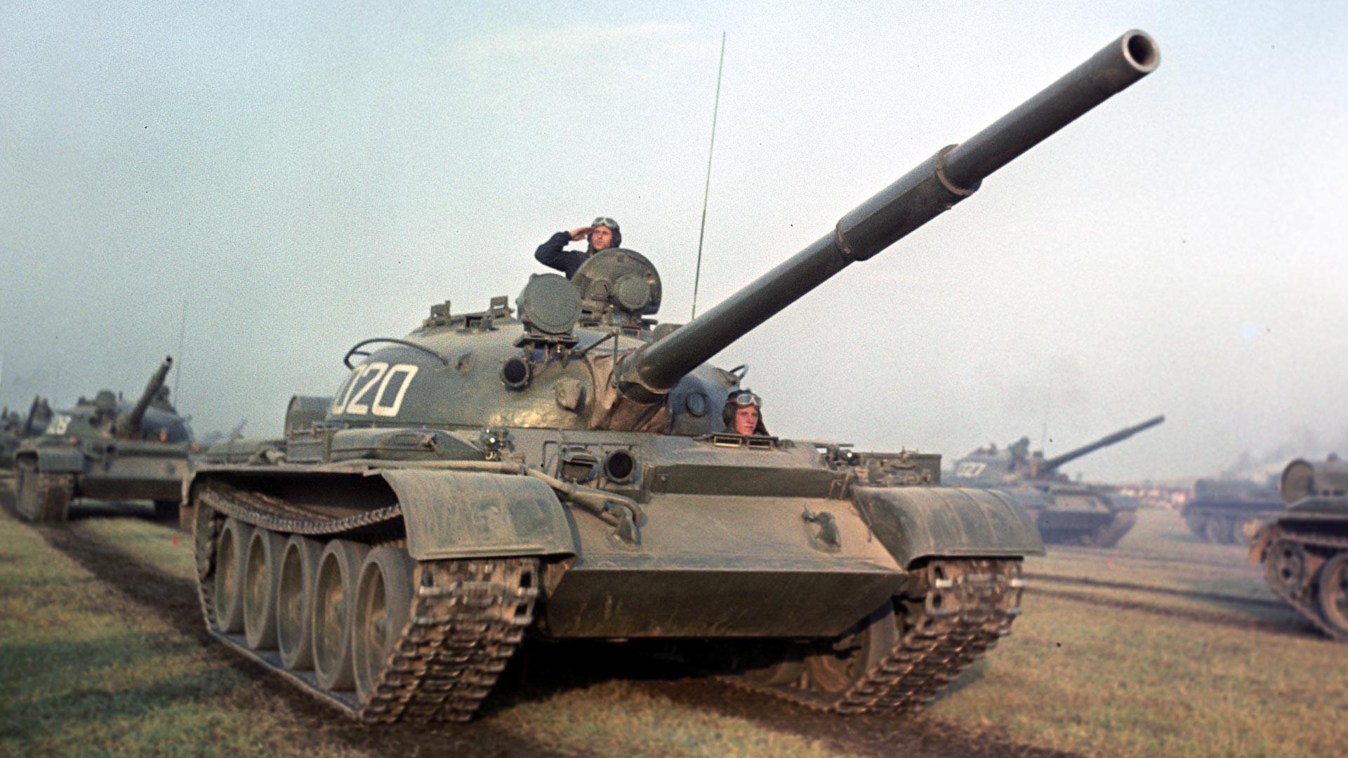 Войсковые учения Советского Союза и стран Варшавского договора в Болгарии.