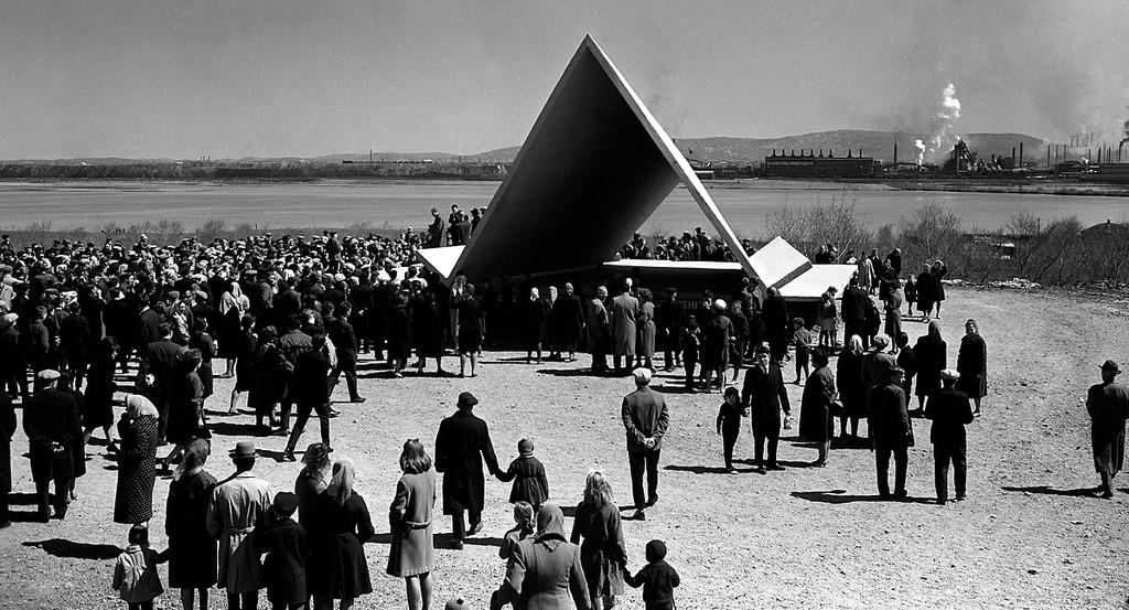 Митинг первостроителей Магнитки у Памятника-палатки