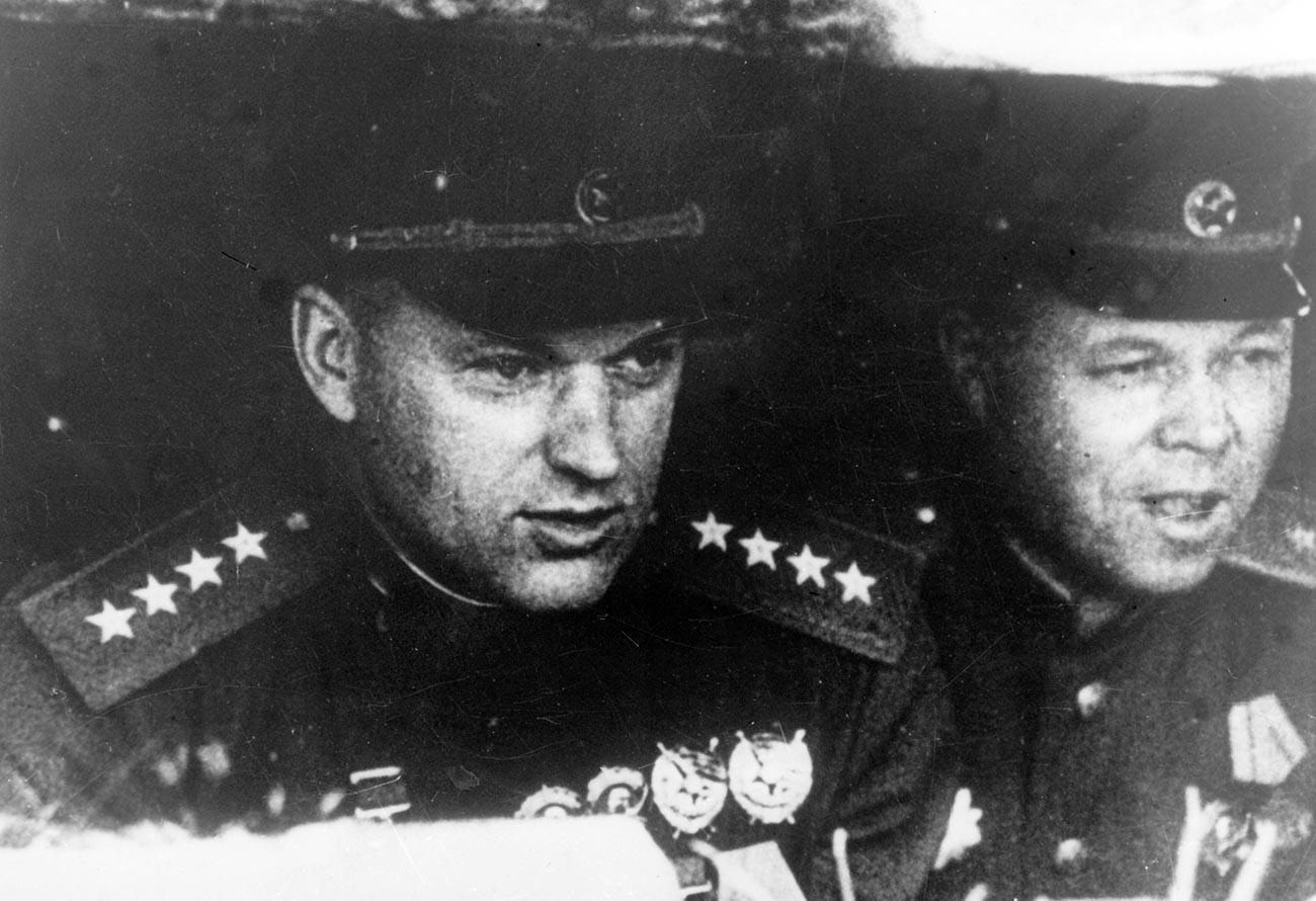 Рокоссовский во время Курской битвы.