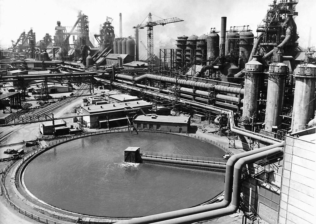 L'altoforno di un impianto metallurgico