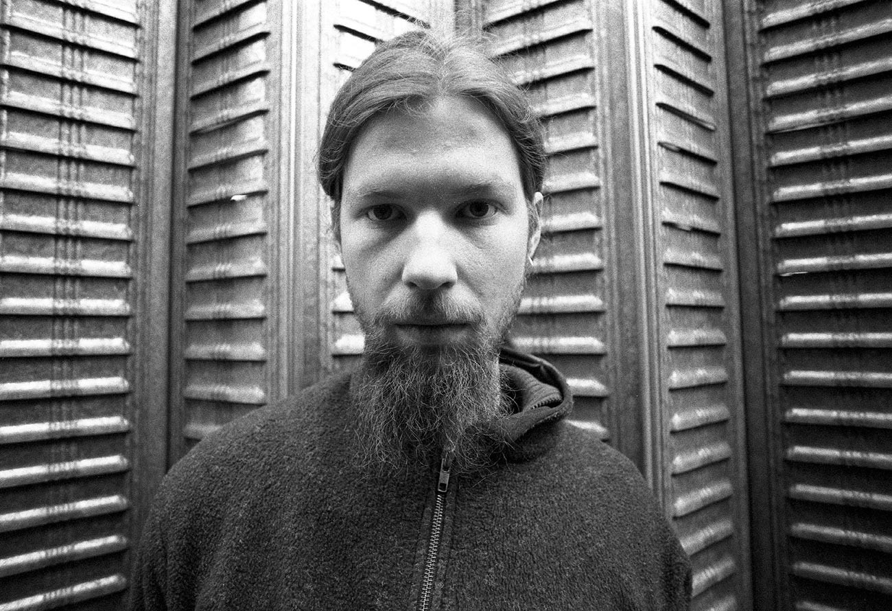 Aphex Twin (aka Richard James), portrait, 1996.